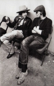 sam shepard with bob dylan during the rolling thunder tour